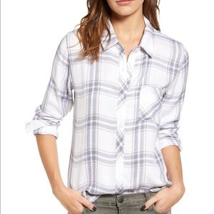 Rails Hunter Plaid Shirt White Charcoal Funfetti